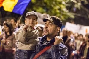 Primul protest cu fiul meu Sasa